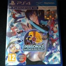 Videojuegos y Consolas PS4: PERSONA 3 DANCING IN MOONLIGHT PLAYSTATION 4 PS4 VR PAL ESPAÑA. Lote 201738745