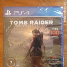 Videojuegos y Consolas PS4: SHADOW OF THE TOMB RAIDER DEFINITIVE EDITION PS4 NUEVO Y PRECINTADO TOTALMENTE EN CASTELLANO. Lote 204022216