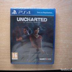 Videojuegos y Consolas PS4: UNCHARTED - EL LEGADO PERDIDO - PRECINTADO - SIN USAR. Lote 204722123