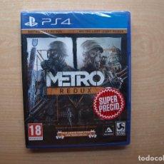 Videojuegos y Consolas PS4: METRO REDUX - PRECINTADA - SIN USAR. Lote 205442763