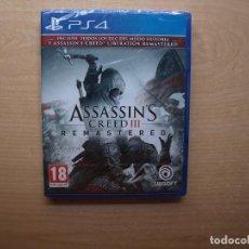 Videojuegos y Consolas PS4: ASSASSIN'S CREED III REMASTERED - PRECINTADA - SIN USAR. Lote 205448493
