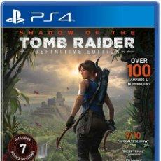 Videojuegos y Consolas PS4: SHADOW OF THE TOMB RAIDER DEFINITIVE EDITION PS4 NUEVO SIN PRECINTO EN PERFECTO ESTADO. Lote 207897513