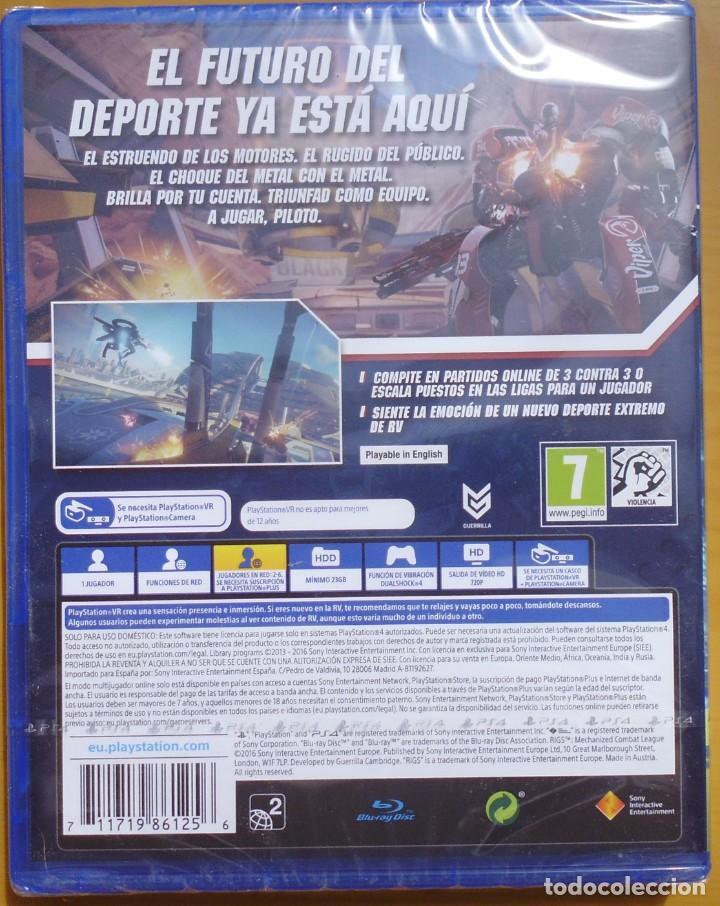 Videojuegos y Consolas PS4: JUEGO PARA PS4 PLAYSTATION RIGS MECHANIZED COMBAT LEAGUE NUEVO SIN DES PRECINTAR - Foto 2 - 208957437