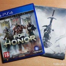 Videojuegos y Consolas PS4: PS4 FOR HONOR (DELUXE EDITION) EDICION ESPAÑOLA (NO DLC) + BSO EDICION ESPAÑOLA. Lote 209863722
