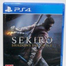 Videojuegos y Consolas PS4: SEKIRO SHADOWS DIE TWICE PS4 COMPLETAMENTE CASTELLANO ESTA NUEVO RECIEN ABIERTO SOLO PROBADO PLAY. Lote 210057448