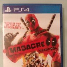 Videojuegos y Consolas PS4: MASACRE DEADPOOL PARA PS4 EN ESPAÑOL PERFECTO ESTADO. Lote 211514389