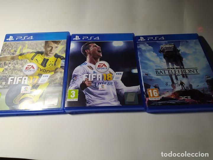 FIFA 17 + FIFA 18 + STAR WARS BATTLEFRONT ( PS4 - PLAYSTATION 4 - PAL ESPAÑA) (Juguetes - Videojuegos y Consolas - Sony - PS4)