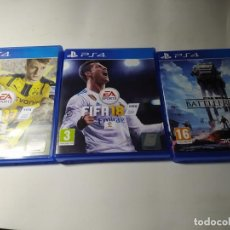 Videojuegos y Consolas PS4: FIFA 17 + FIFA 18 + STAR WARS BATTLEFRONT ( PS4 - PLAYSTATION 4 - PAL ESPAÑA). Lote 211875261