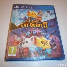 Videojuegos y Consolas PS4: CAT QUEST I + CAT QUEST II PAWSONE PACH PLAYSTATION 4 PAL ESPAÑA NUEVO PRECINTADO. Lote 218752223