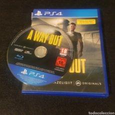Videojuegos y Consolas PS4: A WAY OUT,PS4,RARO. Lote 219187906