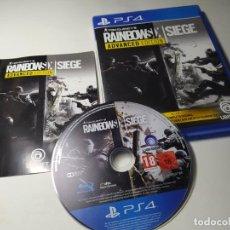 Videojuegos y Consolas PS4: RAINBOW SIX SIEGE - ADVANCED EDITION ( PS4 - PLAYSTATION 4 - PAL - ESP). Lote 219676276