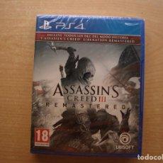 Videojuegos y Consolas PS4: ASSASSIN'S CREED III - REMASTERED - PS4 - PRECINTADO - SIN USAR. Lote 221343027