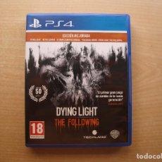 Videojuegos y Consolas PS4: DYING LIGHT THE FOLLOWING - JUEGO AGOTADO - PS4 - CASI NUEVO. Lote 221413811