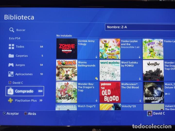 Videojuegos y Consolas PS4: PS4 Jet Black CUH-1004A/B01 + Regalo cuenta PSN con mas de 200 juegos juegos - Foto 4 - 221868718