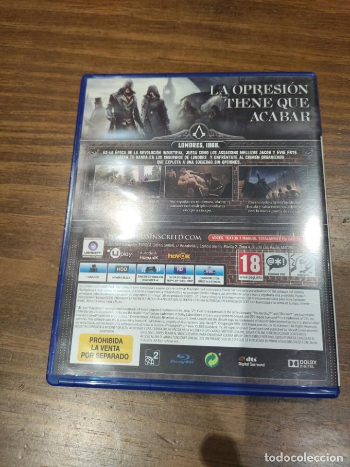 Videojuegos y Consolas PS4: Assassins Creed Syndicate - PS4 - Muy buen estado (LEER DESCRIPCION) - Foto 2 - 222300902