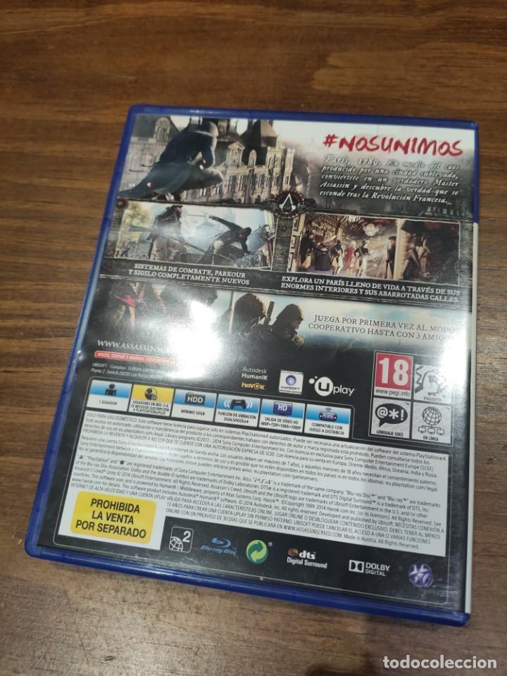 Videojuegos y Consolas PS4: Assassins Creed Unity - PS4 - Muy buen estado (LEER DESCRIPCION) - Foto 2 - 222300951