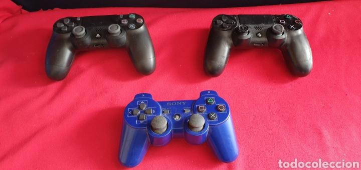 Videojuegos y Consolas PS4: LOTE DE 3 MANDOS PLAYSTATION 4 Y 3 NO ESTAN BROBADOS - Foto 2 - 222306122