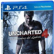 Videojuegos y Consolas PS4: PS4 UNCHARTED 4: EL DESENLACE DEL LADRON (EDICIÓN ESPAÑOLA). Lote 222487282