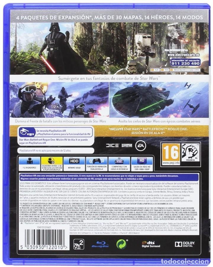 Videojuegos y Consolas PS4: PS4 STAR WARS BATTLEFRONT (EDICIÓN ESPAÑOLA) - Foto 2 - 222490323