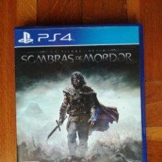 Videojuegos y Consolas PS4: SOMBRAS DE MORDOR - LA TIERRA MEDIA - PLAYSTATION 4 - DISCO EN PERFECTO ESTADO. Lote 222716620