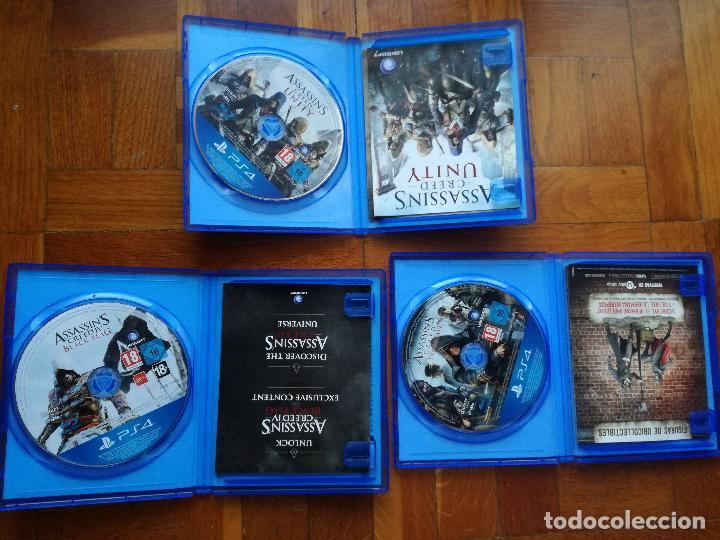 Videojuegos y Consolas PS4: LOTE 3 JUEGOS PLAYSTATION 4 LA SAGA ASSASSINS CREED. COMPLETOS. DISCOS EN PERFECTO ESTADO - Foto 2 - 222716976