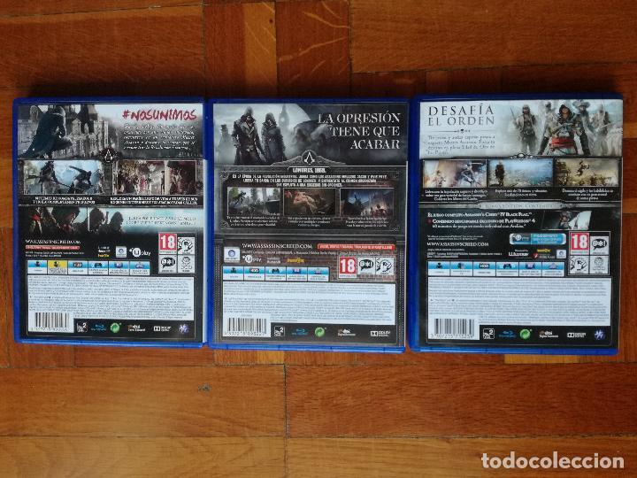 Videojuegos y Consolas PS4: LOTE 3 JUEGOS PLAYSTATION 4 LA SAGA ASSASSINS CREED. COMPLETOS. DISCOS EN PERFECTO ESTADO - Foto 6 - 222716976