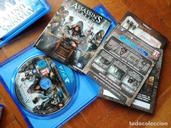 Videojuegos y Consolas PS4: LOTE 3 JUEGOS PLAYSTATION 4 LA SAGA ASSASSINS CREED. COMPLETOS. DISCOS EN PERFECTO ESTADO - Foto 7 - 222716976