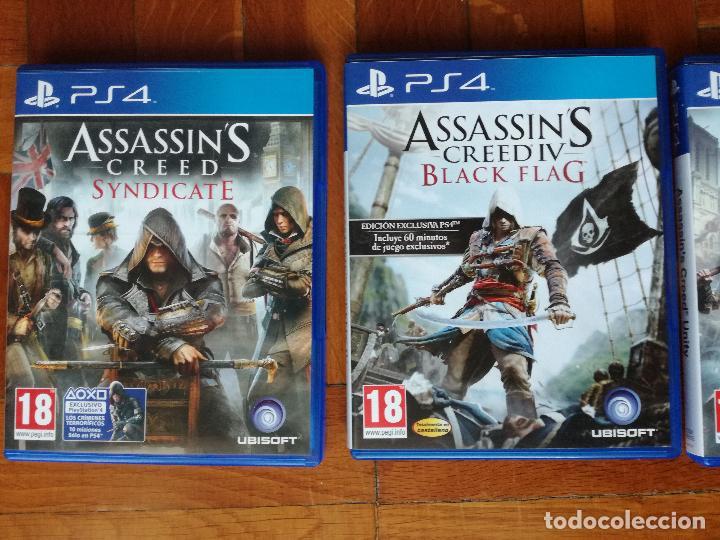 Videojuegos y Consolas PS4: LOTE 3 JUEGOS PLAYSTATION 4 LA SAGA ASSASSINS CREED. COMPLETOS. DISCOS EN PERFECTO ESTADO - Foto 8 - 222716976