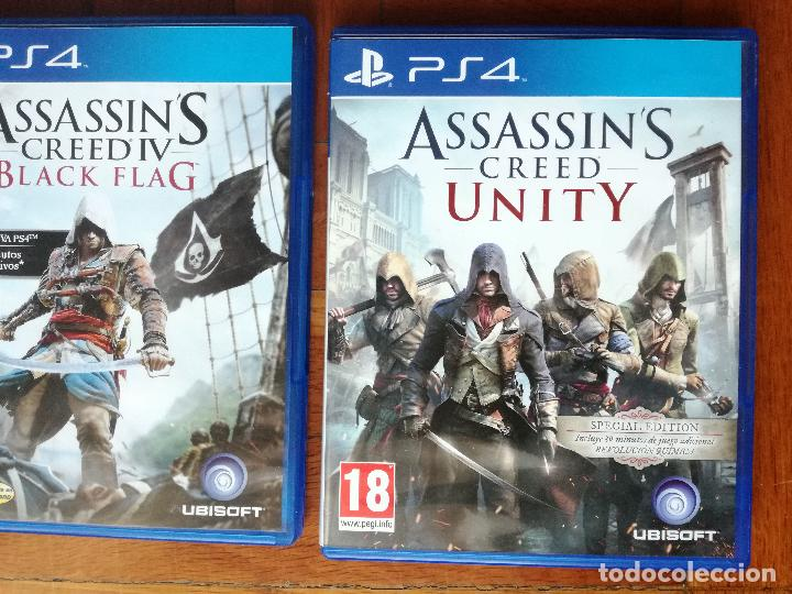 Videojuegos y Consolas PS4: LOTE 3 JUEGOS PLAYSTATION 4 LA SAGA ASSASSINS CREED. COMPLETOS. DISCOS EN PERFECTO ESTADO - Foto 9 - 222716976