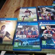 Videojuegos y Consolas PS4: LOTE DE JUEGOS PLAYSTATION 4 FÚTBOL. Lote 222950138