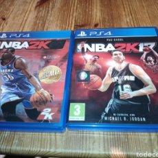 Videojuegos y Consolas PS4: JUEGOS PLAYSTATION 4 NBA 2K 15 Y NBA 2K 17. Lote 222950248