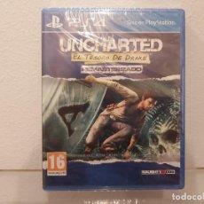 Videojuegos y Consolas PS4: UNCHARTED, EL TESORO DE DRAKE - VIDEOJUEGO PS4 A ESTRENAR (PAL ESP). Lote 235356475
