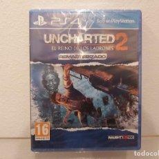 Videojuegos y Consolas PS4: UNCHARTED, EL REINO DE LOS LADRONES 2 - VIDEOJUEGO PS4 A ESTRENAR (PAL ESP). Lote 235356830