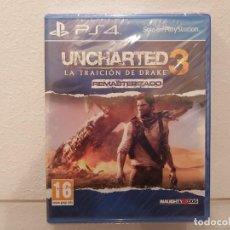 Videojuegos y Consolas PS4: UNCHARTED, LA TRAICION DE DRAKE 3 - VIDEOJUEGO PS4 A ESTRENAR (PAL ESP). Lote 235357385