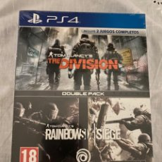 Videojuegos y Consolas PS4: PACK TOM CLANCY´S RAINBOW SIX SIEGE + THE DIVISION ESPANA SONY PLAYSTATION 4 PS4 NUEVO PRECINTADO. Lote 236359425
