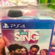 Videojuegos y Consolas PS4: JUEGO PS4 LETS SING 2020 SINGSTAR CON 1 MICRÓFONO PLAY STATION 4 3 2 KARAOKE APRENDER A CANTAR CD. Lote 243368180