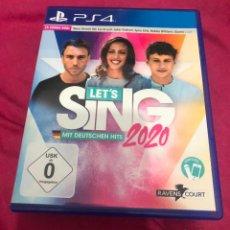 Videojuegos y Consolas PS4: JUEGO PS4 LETS SING 2020 MIT DEUTSCHEN HITS SINGSTAR PLAY STATION 4 3 2 KARAOKE APRENDER A CANTAR CD. Lote 243368890