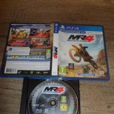 Videojuegos y Consolas PS4: PS4 MOTO RACER 4 MR4 PAL ESP COMPLETO. Lote 244891970