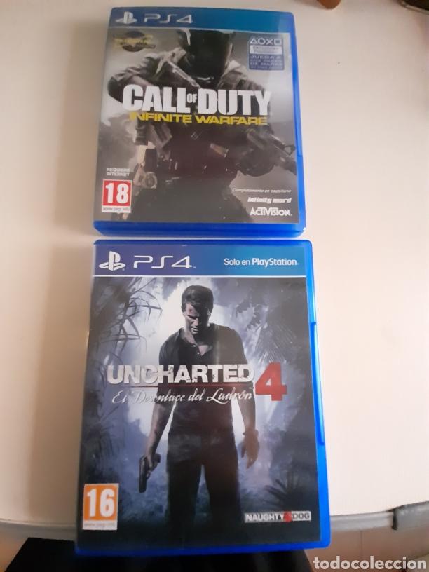 PS4 VIDEOJUEGOS UNCHARTED 4 Y CALL OF DUTY INFINITE WARFARE (Juguetes - Videojuegos y Consolas - Sony - PS4)