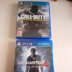 Videojuegos y Consolas PS4: PS4 VIDEOJUEGOS UNCHARTED 4 Y CALL OF DUTY INFINITE WARFARE. Lote 247522545