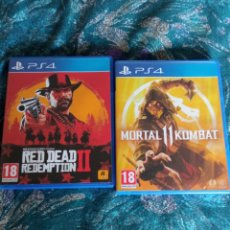 Videojuegos y Consolas PS4: RED DEAD REDEMPTION Y MORTAL KOMBAT 11 PS4. Lote 254356805