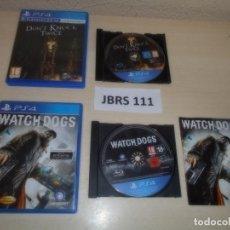 Videojuegos y Consolas PS4: PS4 - WATCH DOGS + DON,T KNOCK TWICE , PAL ESPAÑOLES. Lote 261833025