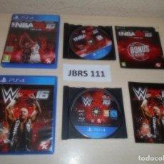 Videojuegos y Consolas PS4: PS4 - NBA 2K 16 + W 2K 16 , PAL ESPAÑOLES. Lote 261833465
