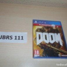 Videojuegos y Consolas PS4: PS4 - DOOM , PAL ESPAÑOL , PRECINTADO. Lote 262046345