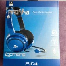 Videojuegos y Consolas PS4: AURICULARES CASCOS GAMER CON MICROFONO SONY PLAYSTATION 4 PRO 440 AZUL STEREO GAMING HEADSET. Lote 267576144