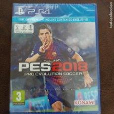 Videojuegos y Consolas PS4: PRO EVOLUTION SOCCER (PES) 2018 PS4 NUEVO SELLADO PRECINTADO. Lote 268984114