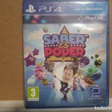 Videojuegos y Consolas PS4: SABER ES PODER. Lote 278197148