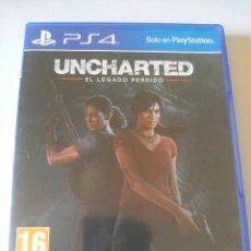 Videojuegos y Consolas PS4: JUEGO PS4 UNCHARTED EL LEGADO PERDIDO PAL. Lote 278929328