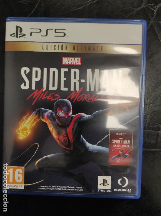 SPIDERMAN SPIDER MAN MILES MORALES - PLAYSTATION 5 PS5 - PAL ESP (Juguetes - Videojuegos y Consolas - Sony - PS4)