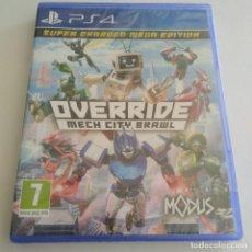 Videojuegos y Consolas PS4: OVERRIDE MECH CITY BRAWL PS4 PLAYSTATION PRECINTADO. Lote 288894563
